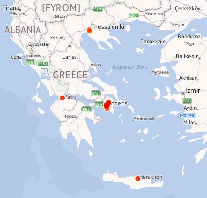 Karte Griechenland WMC