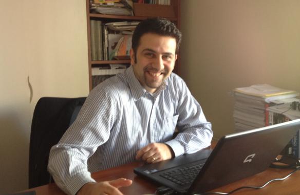 Vassilis Nikolopoulos während unseres Gesprächs im intelen Headquader in Athen