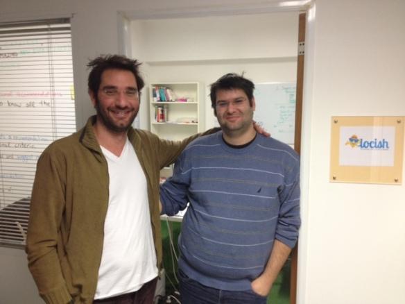 Die beiden Gründer bei meinem Besuch im Januar im Colab Athens. Müde aber glücklich