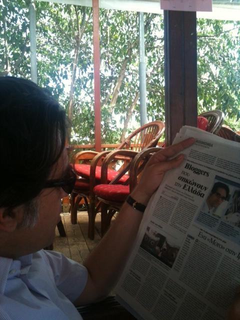 Beim Lesen des Vima Artikels über Eulen aus Athen