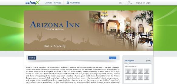 Arizona Inn Akademie über schooX